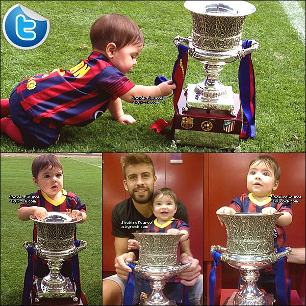 ⚽ Shakira, Gérard & Milan étaient au « Cam Nou Stadium ». 28 Août 2o13. Barcelone - Espagne.