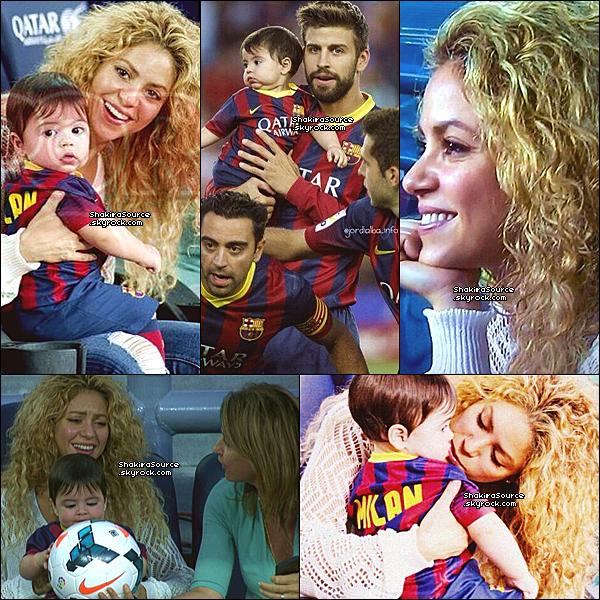 ⛸️ Shakira & Milan sont allés au « Camp Nou » pour voir le match FC Barcelone/FC Séville. 14 Septembre 2o13. Barcelone - Espagne.