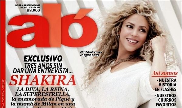 🎤 Shakira a donné une Interview à « Alo Magazine ». Novembre 2o13. Colombie.