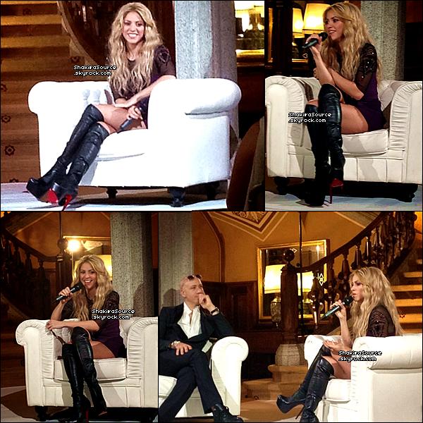 🎤 Shakira a donné une « Interview » pour la marque Oral-B. o2 Novembre 2o13. Barcelone - Espagne.