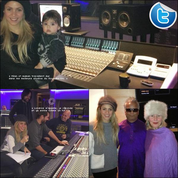 🎤 Shakira a posté des photos d'elle dans des « Studios d'Enregistrement ». 19 & 20 Novembre 2o13. Londres - Angleterre.