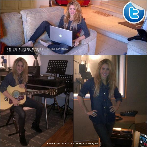 📷 Shakira a posté une photo de « Milan face aux Pyrénées ». 25 Novembre 2o13. Perpignan - France.