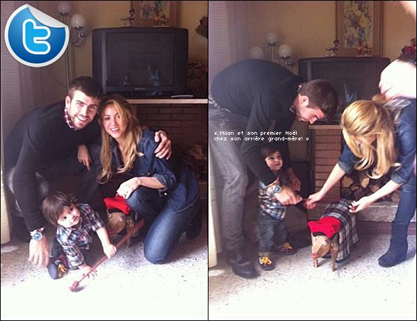 🎄 Shakira a posté des « Photos de sa Famille » pour Noël. 25 Décembre 2o13 - Barcelone, Espagne.