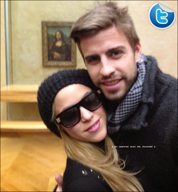 🎨 Puis, Shakira & Gérard sont allés « Visiter le Musée du Louvres ». 28 Décembre 2o13 - Paris, France.