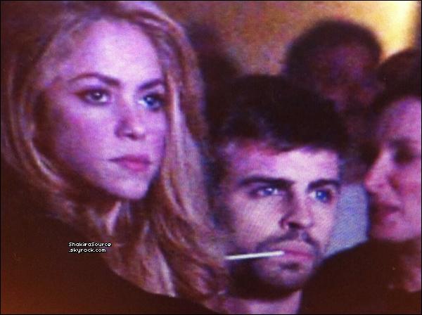 🍴 Puis, Shakira & Gérard sont allés dîner à « Ikibana Restaurant ». 15 Janvier 2014 - Barcelone, Espagne.
