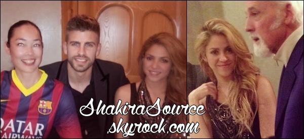 🍴 Shakira & Gérard sont allés à un dîner à « Casa Battlo Restaurant »organisé par Nike. o6 Mars 2014 - Barcelone, Espagne.
