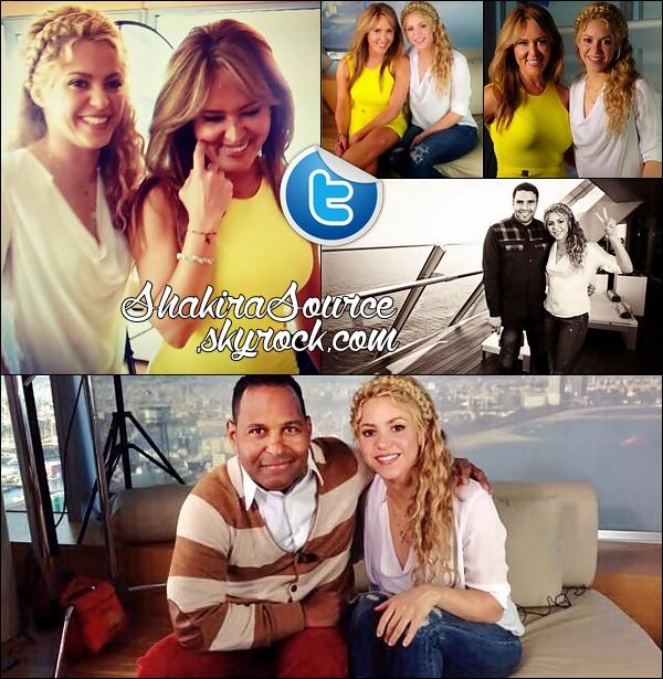 🎤 Shak est allée au « Hotel W » donner des Interviews à El Gordo y la Flaca & Primer Impacto. 1o Mars 2014 - Barcelone, Espagne.