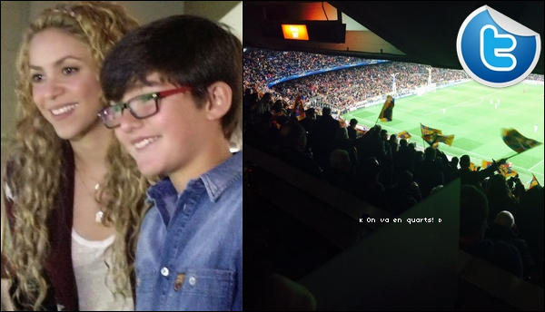 ⚽ Shakira est allée au « Camp Nou Stadium ». 12 Mars 2014 - Barcelone, Espagne.