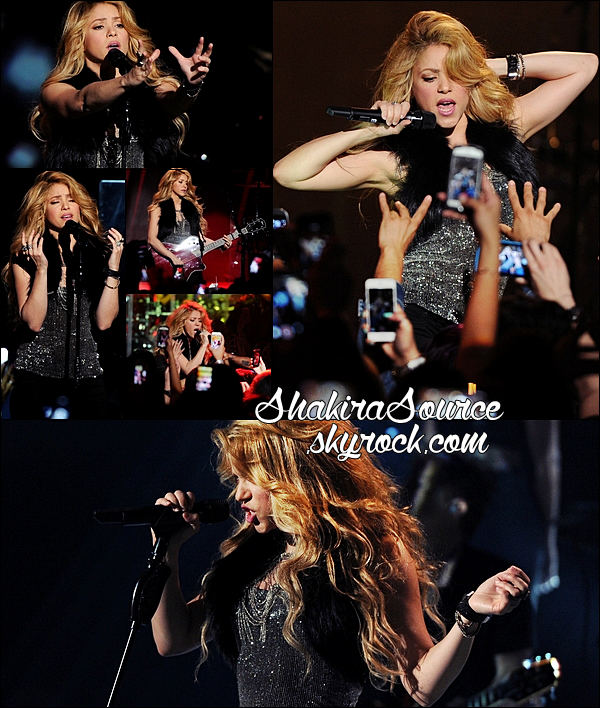24 Mars 2014  | Shakira a donné un concert au IHeartRadio Theater à Burbank pour lancer son nouvel album.  Shakira y a chanté Empire, Can't Remember To Forget You, 23, You Don't Care About Me et Hips Don't Lie.