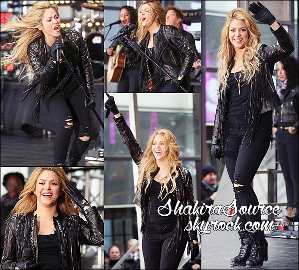 🎤 Shakira a chanté Empire lors de l'émission « The Tonight Show ». 26 Mars 2014 - New-York, Etats-Unis.