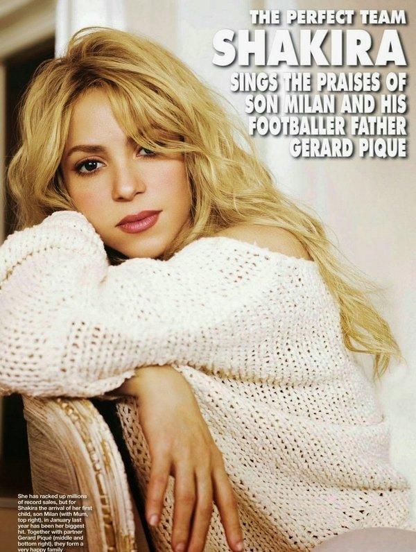 02 Avril 2014  | Shakira a été interviewée par « Hello Magazine ».  Shakira s'y est confessée sur plusieurs sujets.
