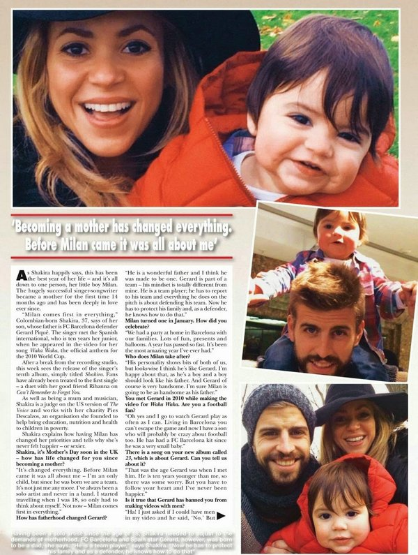 🎤 Shakira a donné une Interview à « Hello Magazine ». Avril 2014 - Los Angeles, Etats-Unis.
