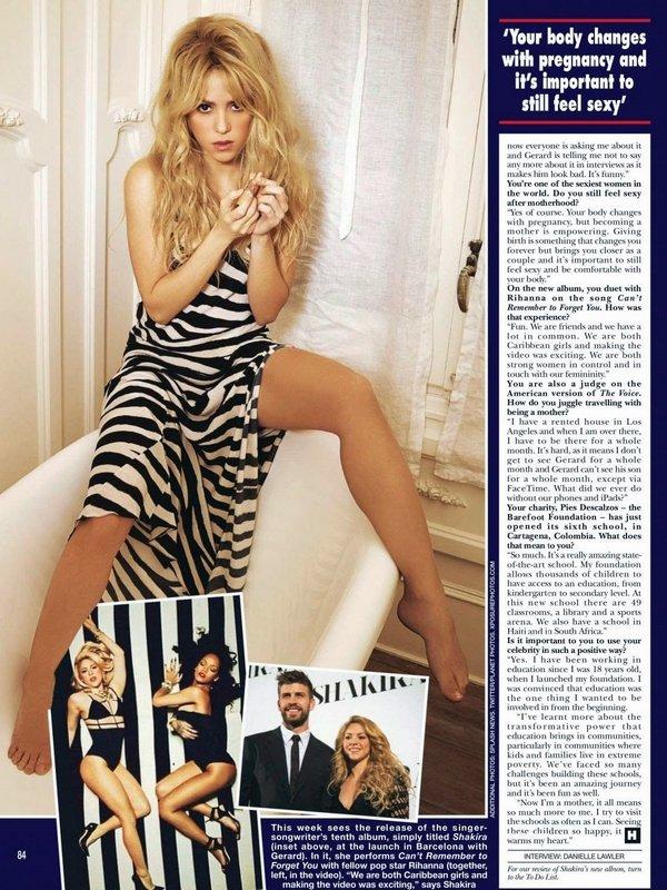 🎤 Shakira a donné une Interview à « Hello Magazine ». Avril 2014 - Los Angeles, Etats-Unis.