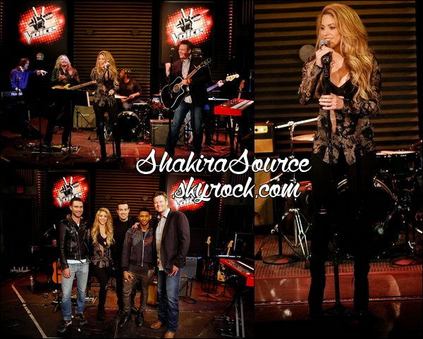 "03 Avril 2014  | Shakira est allée au « NBC's ""The Voice"" Red Carpet Event » à The Sayers Club à Los Angeles.  Shakira y a chanté sa chanson « 23 » & « Medicine » avec Blake Shelton."
