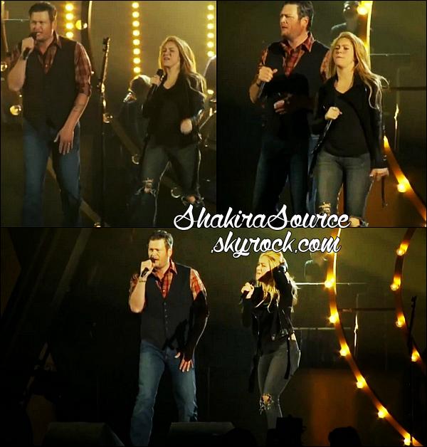 🎤 Shakira durant les répétitions des « ACM Awards » avec Blake Shelton. o5 Avril 2014 - Las Vegas, Etats-Unis.