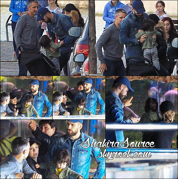 🐠 Shakira, Gérard, Milan & Tonino sont allés à « L'Aquarium de Barcelone ». 15 Avril 2014 - Barcelone, Espagne.