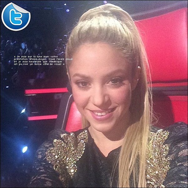 🎤 Shakira était sur le « Plateau de The Voice ». 28 Avril 2014 - Los Angeles, Etats-Unis.