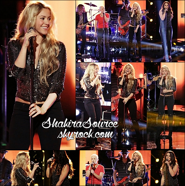 🎤 Shakira était sur le « Plateau de The Voice ». 29 Avril 2014 - Los Angeles, Etats-Unis.