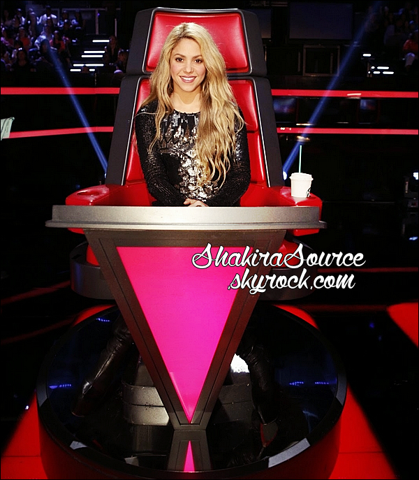 📷 Shakira était sur le « Plateau de The Voice ». o5 Mai 2014 - Los Angeles, Etats-Unis.
