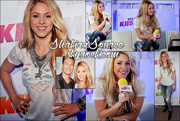 10 Mai 2014  | Shakira a chanté au « 102.7 KIIS FM's Wango Tango » au StubHub Center de Los Angeles.  Shakira y a chanté Can't Remember To Forget You, Empire, 23, You Don't Care About Me & Hip's Don't Lie.