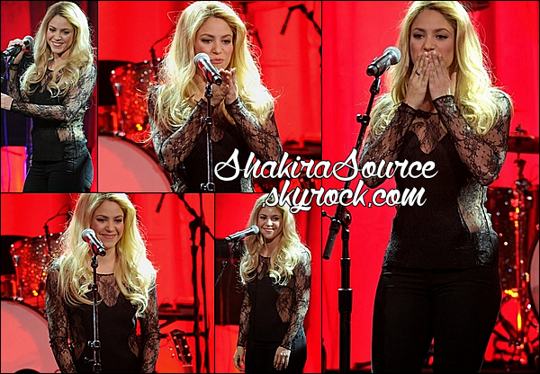 13 Mai 2014  | Le soir, Shakira était au « BMI Pop Music Awards 2014 » au Beverly Wilshire Hotel à Beverly Hills.  Shakira a rendu hommage à la chanteuse Stevie Nicks.
