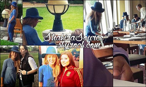 🐼 Shakira, Gérard & Milan sont allés au « Zoo » puis sont allés « Déjeuner au Restaurant ». o5 Juin 2014 - Washington, Etats-Unis.