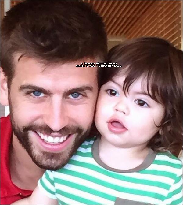 📷 Shakira a posté une photo de Gérard & Milan pour la « Fête des Pères ». 15 Juin 2014 - Washington, Etats-Unis.