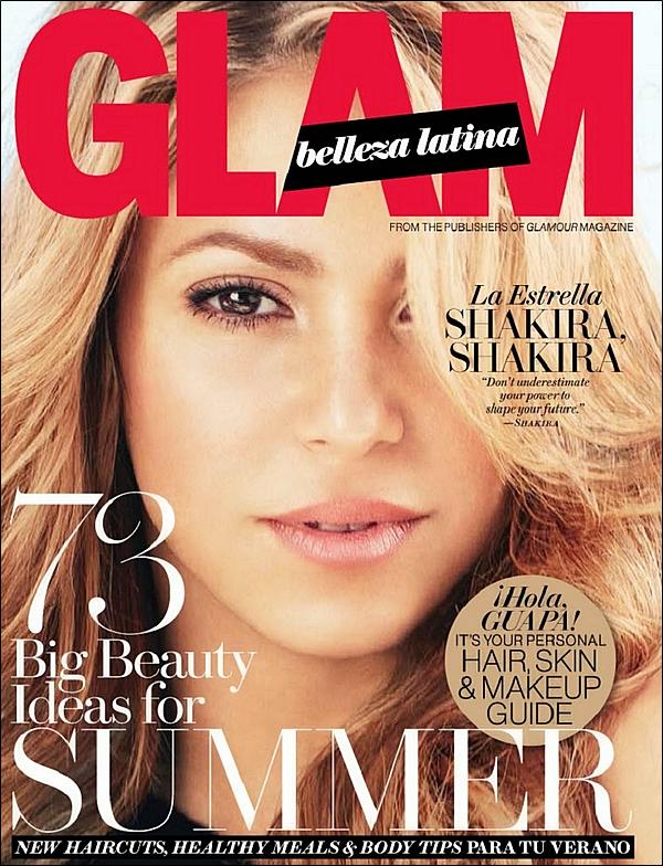 📷 Shakira fait la Couverture de « Glamour Magazine ». 16 Juin 2014 - Etats-Unis.