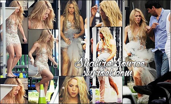 🎥 Shakira était sur le « Tournage d'une Pub pour Oral-B ». 17 Juin 2014 - Miami, Etats-Unis.