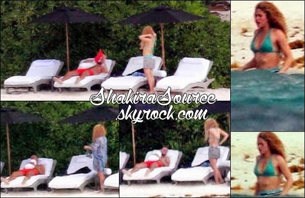 🌴 Shakira & Gérard ont été vus sur une « Plage ». o6 Juillet 2014 - Cancun, Mexique.
