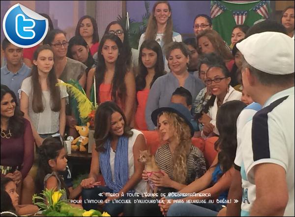 🎤 Shakira a donné une Interview pour l'émission « Despierta America ». o9 Juillet 2014 - Miami, Etats-Unis.