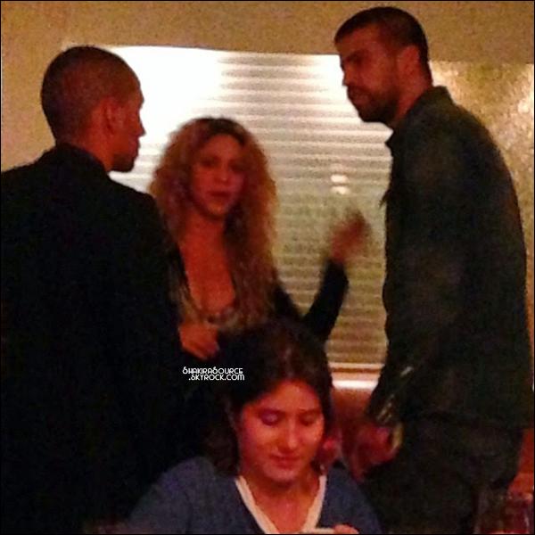 13 Juillet 2014  | Shakira & Gérard sont ensuite « allés manger dans un restaurant » à Rio de Janeiro, Brésil.   Milan, lui est rentré à l'hôtel avec la nounou.