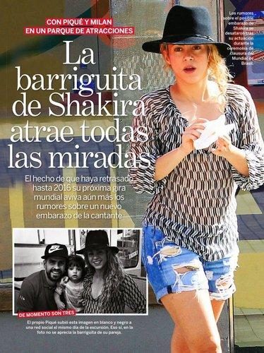 18 Juillet 2014  | Shakira, Gérard & Milan ont pris le funicular pour aller à « la montagne Montjuïc » à Barcelone.   La famille a également été vue dans un parc d'attraction.