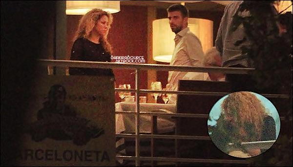 🍴 Shakira & Gerard sont allés à l'anniversaire du Papa de Shakira au restaurant Barceloneta.  09 Septembre2014, Barcelone.
