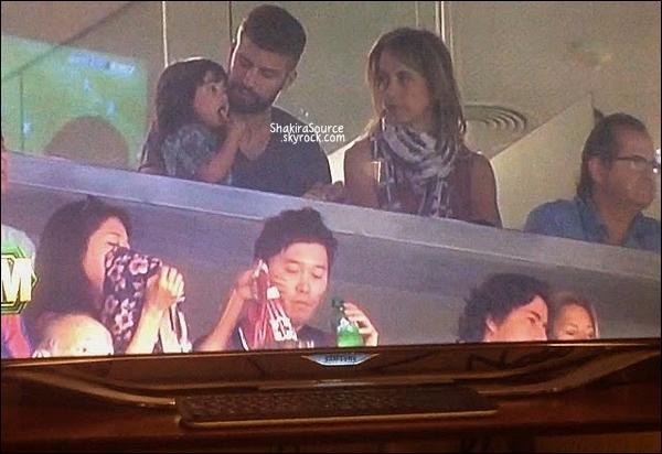 ⚽ Gerard, Milan & Montserrat, sont allés au Camp Nou voir le match Fc Barcelone/Grenade.  27 Septembre 2014, Barcelone.