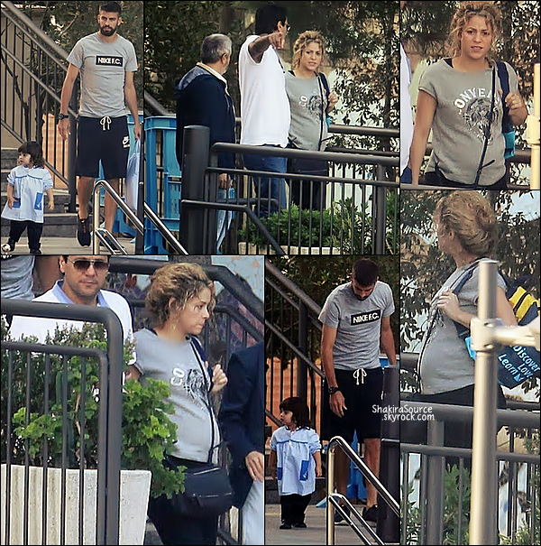 🎒 Shakira, Gerard & Tonino ont emmené Milan à son premier jour d'école.  ? Septembre 2014, Barcelone.
