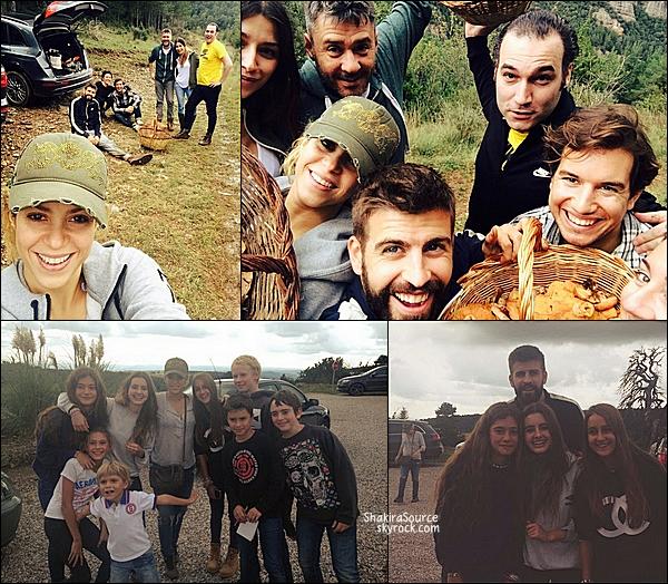 🍄 Shakira, Gerard, Jaume de Laiguana & d'autres amissont allés cueillir des champignons dans les bois.  05 Octobre 2014, Cerdaña.
