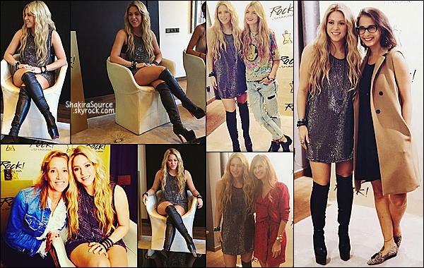 🍄 Shakira a lancé son nouveau parfum (Rock!) à l'hôtel Mandarin Oriental où des fans ont pu la rencontrer.  09 Octobre 2014, Barcelone.