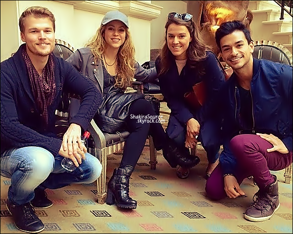⚽ Shakira est allée voir le match Luxembourg/Espagne.  12 Octobre 2014, Luxembourg.