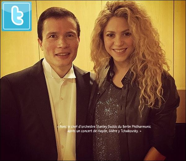 🎺 Shakira est allée à un Concert Philharmonic.  01 Novembre 2014. Berlin, Allemagne.