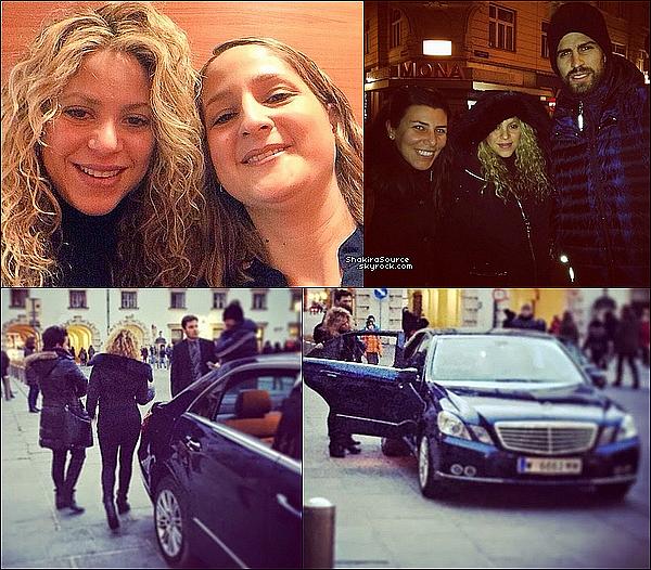 🚶  Shakira & Gérard ont été vus dans les rues de Vienne en Autriche.  21 Décembre 2014. Vienne, Autriche.