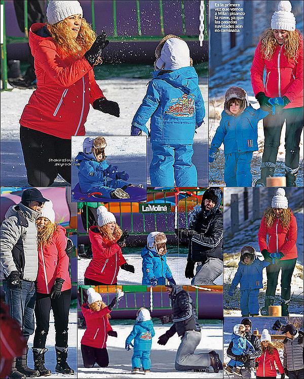 🎈 Shakira & Gérard ont fêté le réveillon de Nouvel-An avec les parents de Gérard, Montserrat & Joan, après avoir fait de la luge avec Gérard & Milan dans les montagnes de Pyrénées Catalanes.  31 Décembre 2014. Cerdanya, Espagne.