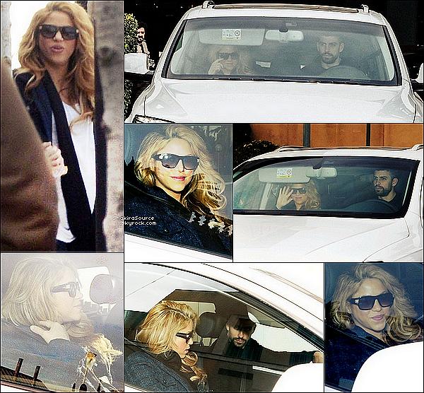 🏥 Shakira a été vue quittant la Clinique Teknon avec Gérard, Milan & Sasha.  o2 Février 2015. Barcelone, Espagne.