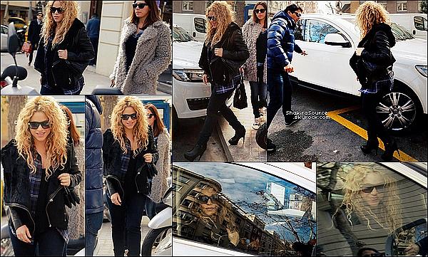 🍴 Shakira & Tonino sont allés déjeuner japonais à Ken Restaurant.  o6 Février 2015. Barcelone, Espagne.