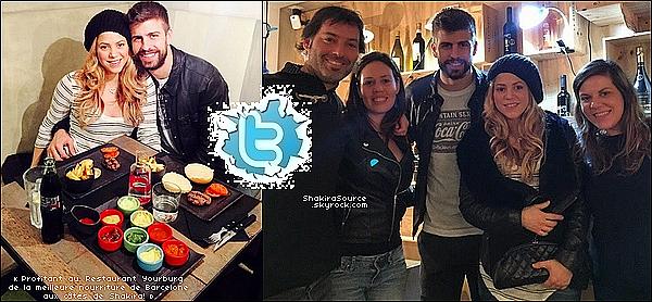 🍫 Shakira a posté une photo d'un cadeau en chocolat offert par un ami. 18 Février 2015. Barcelone, Espagne.