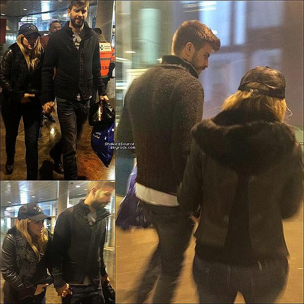 ⚽️ Shakira & Gerard ont été vus quittant le « Camp Nou » après FC Barcelone/Real Madrid. 22 Mars 2o15. Barcelone, Espagne.