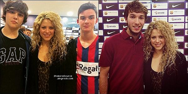 🏀 Shakira & Gérard sont allés au complexe sportif du « Palau Blaugrana » pour voir un match de basket. 17 Avril 2o15. Barcelone, Espagne.