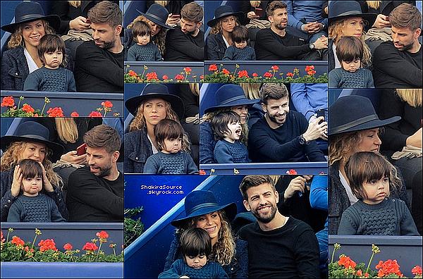 🎾 Shakira, Gérard & Milan sont allés voir la finale de « l'ATP de Barcelone ». 26 Avril 2o15. Barcelone, Espagne.