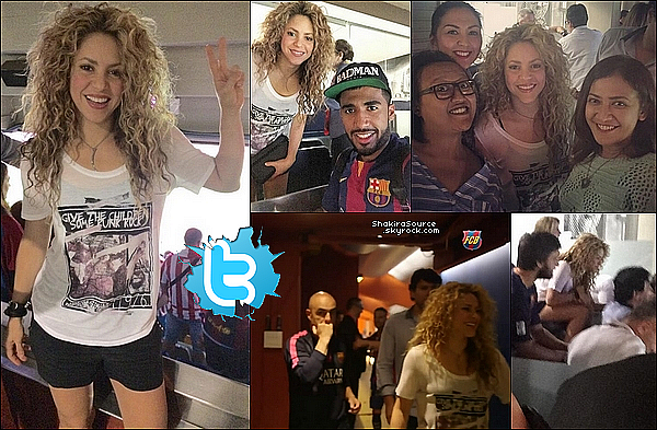 🚲 Shakira a posté une photo d'elle « Faisant de la moto » avec Joan, le père de Gérard. 31 Mai 2o15. Barcelone, Espagne.