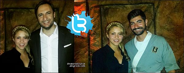 🍴 Shakira a été vue dans un « Restaurant Japonais ». o3 Juin 2o15. Barcelone, Espagne.